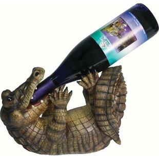 Alissa Alligator 1 Tabletop Wine Bottle Rack