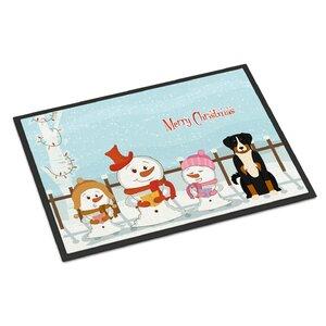 Merry Christmas Carolers Appenzeller Sennenhund Doormat