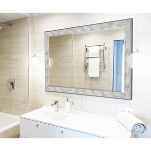 Scratched Wash White Trim Full Length Mirror