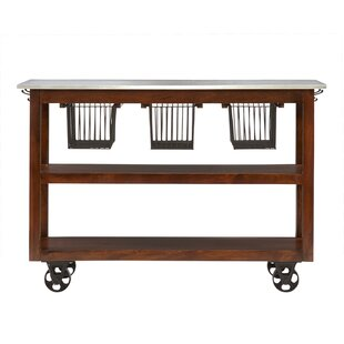 Lytchett Kitchen Cart with Marble Top