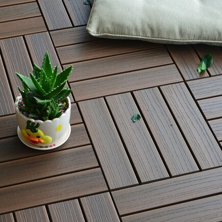 Composite Walnut 12 X Interlocking Deck Tiles Out Of Stock
