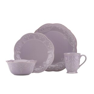French Perle Violet 4 Piece Place Setting Service for 1  sc 1 st  Wayfair & Purple Dinnerware Sets Youu0027ll Love | Wayfair