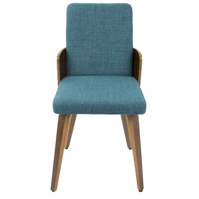 Brayden Studio Tadcaster Upholstered Dining Chair Upholstery Color: Teal