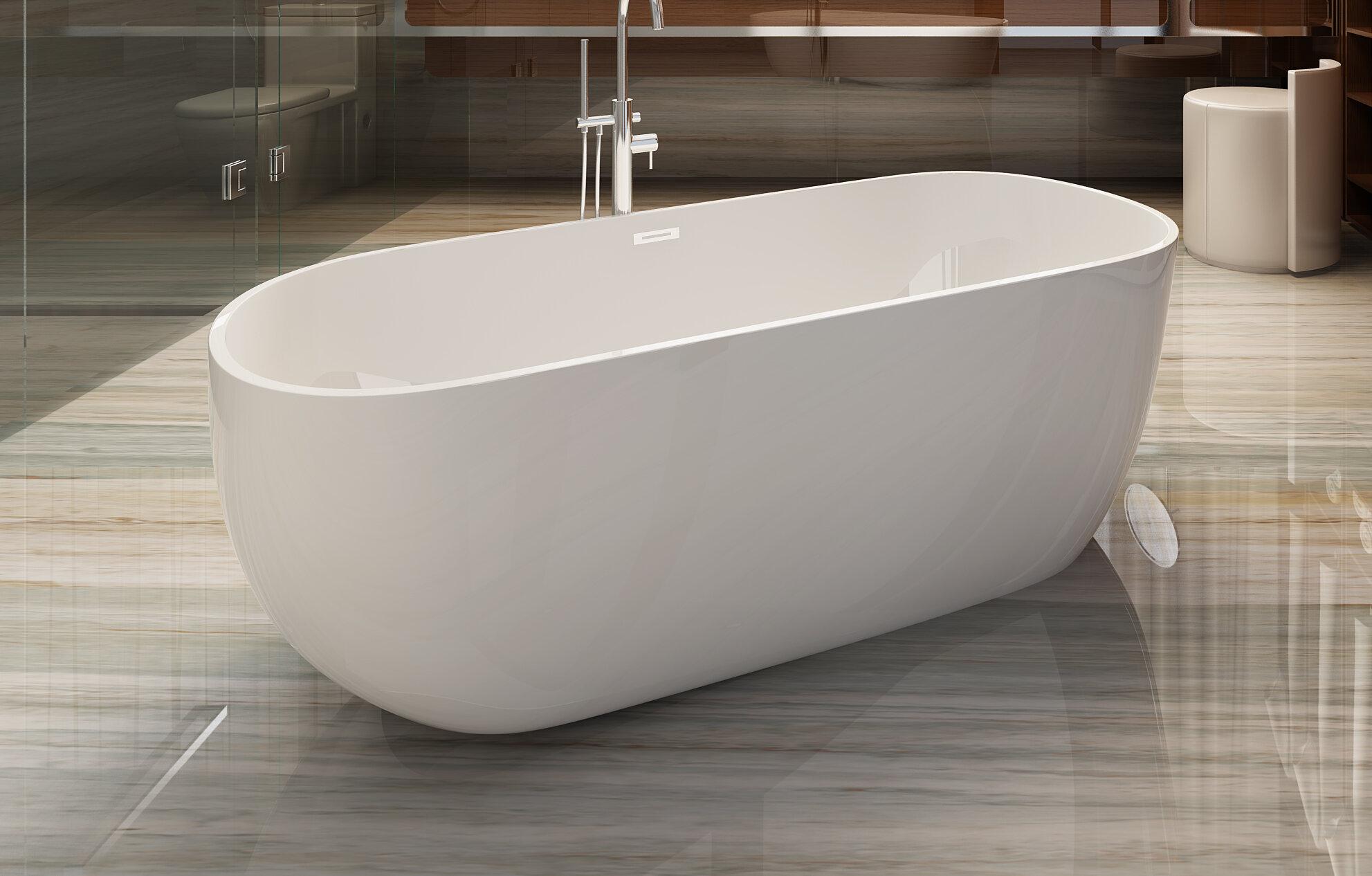 Bathtubk1513 Milan 59 X 29 Freestanding Soaking Bathtub