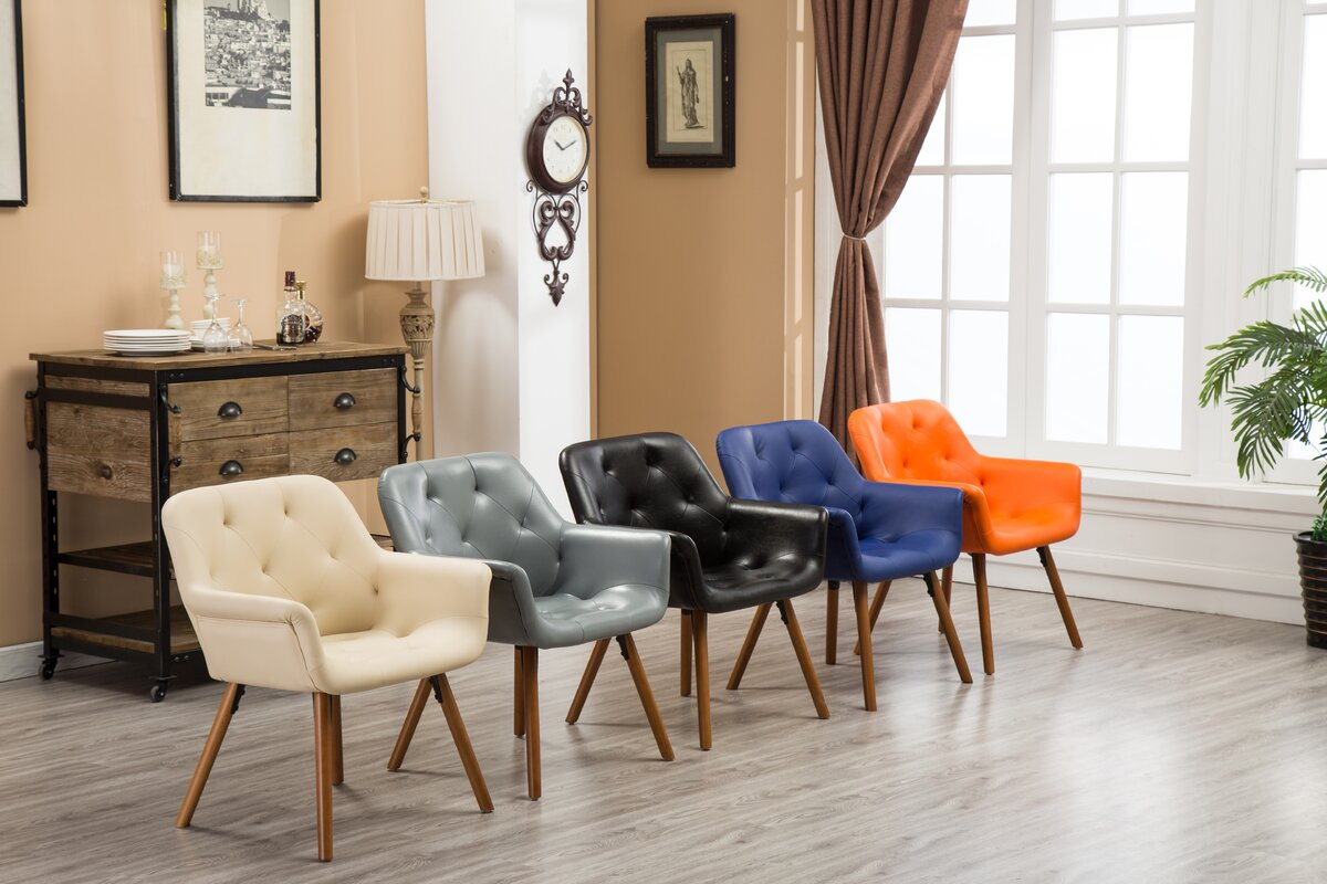George Oliver Yamada Diamond Tufted Accent Chair & Reviews