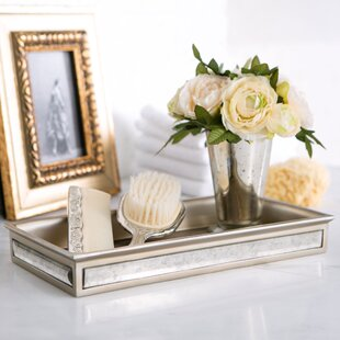 Ordinaire Distressed Glass Bathroom Accessory Tray