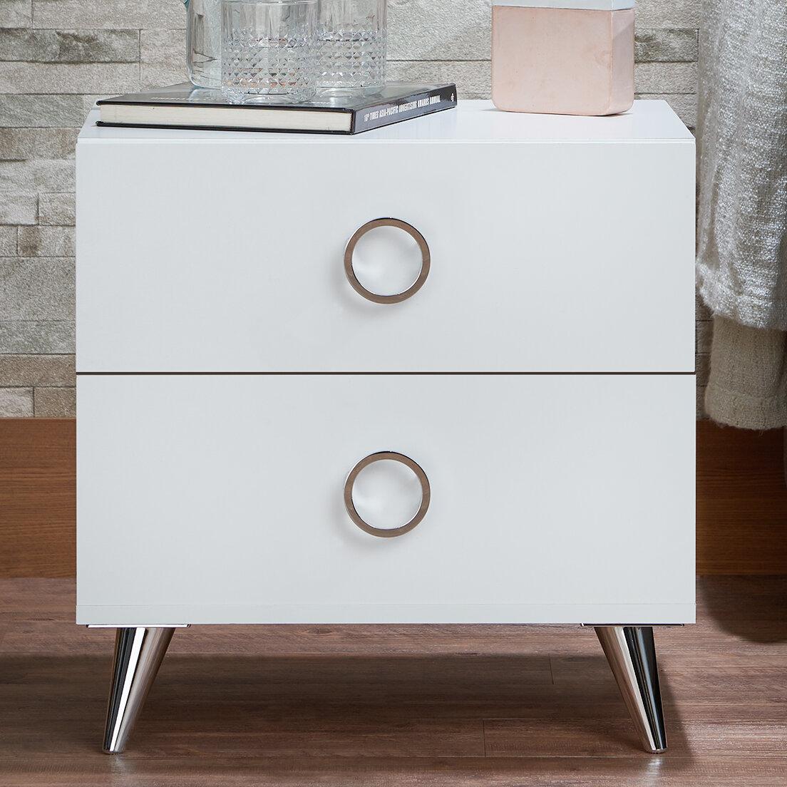 Gentil ACME Furniture Elms 2 Drawer Nightstand U0026 Reviews | Wayfair