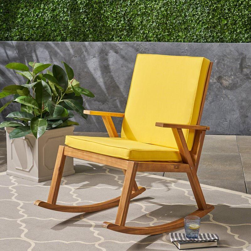 Fine Larracey Outdoor Rocking Chair With Cushions Home Interior And Landscaping Dextoversignezvosmurscom