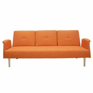 Cooper Sleeper Sofa. Dark Orange