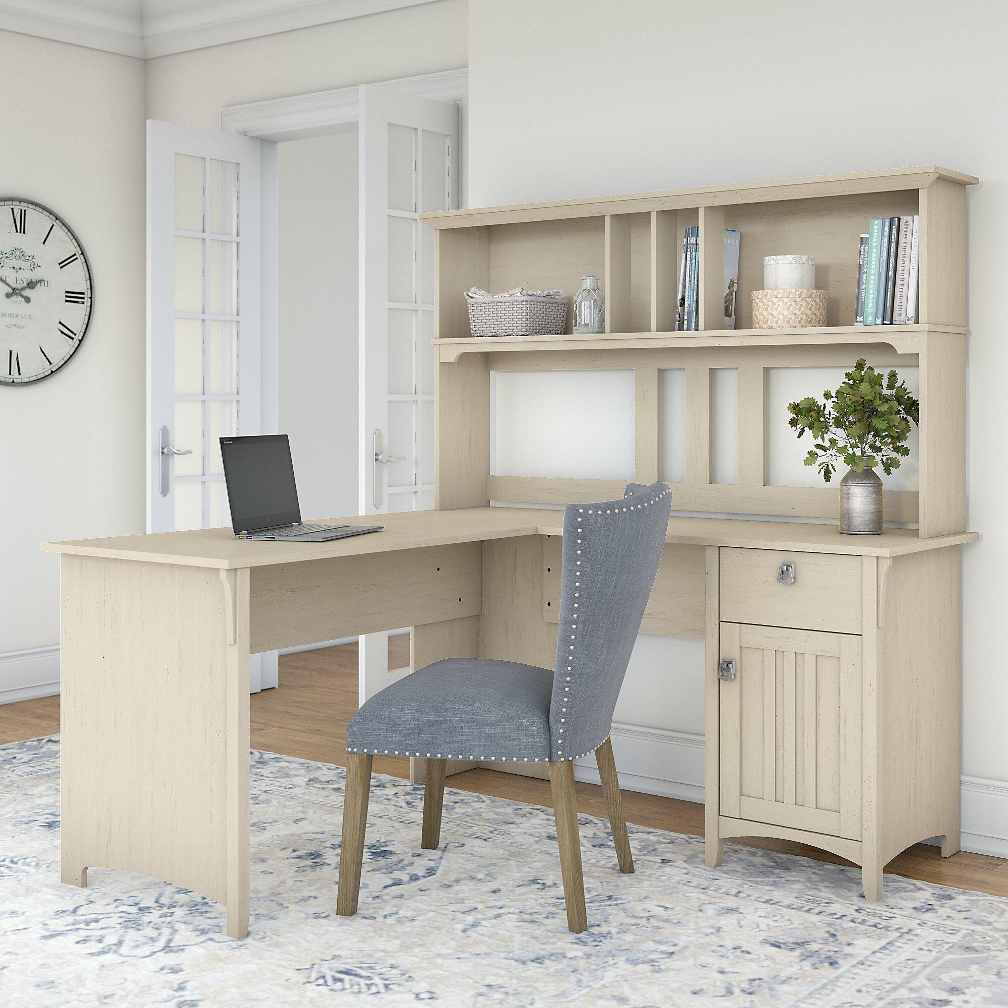 Colville L Shape Credenza Desk With Hutch
