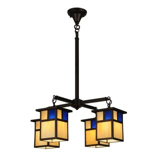 Mission shaker chandeliers youll love wayfair hyde park t mission 4 light shaded chandelier aloadofball Images