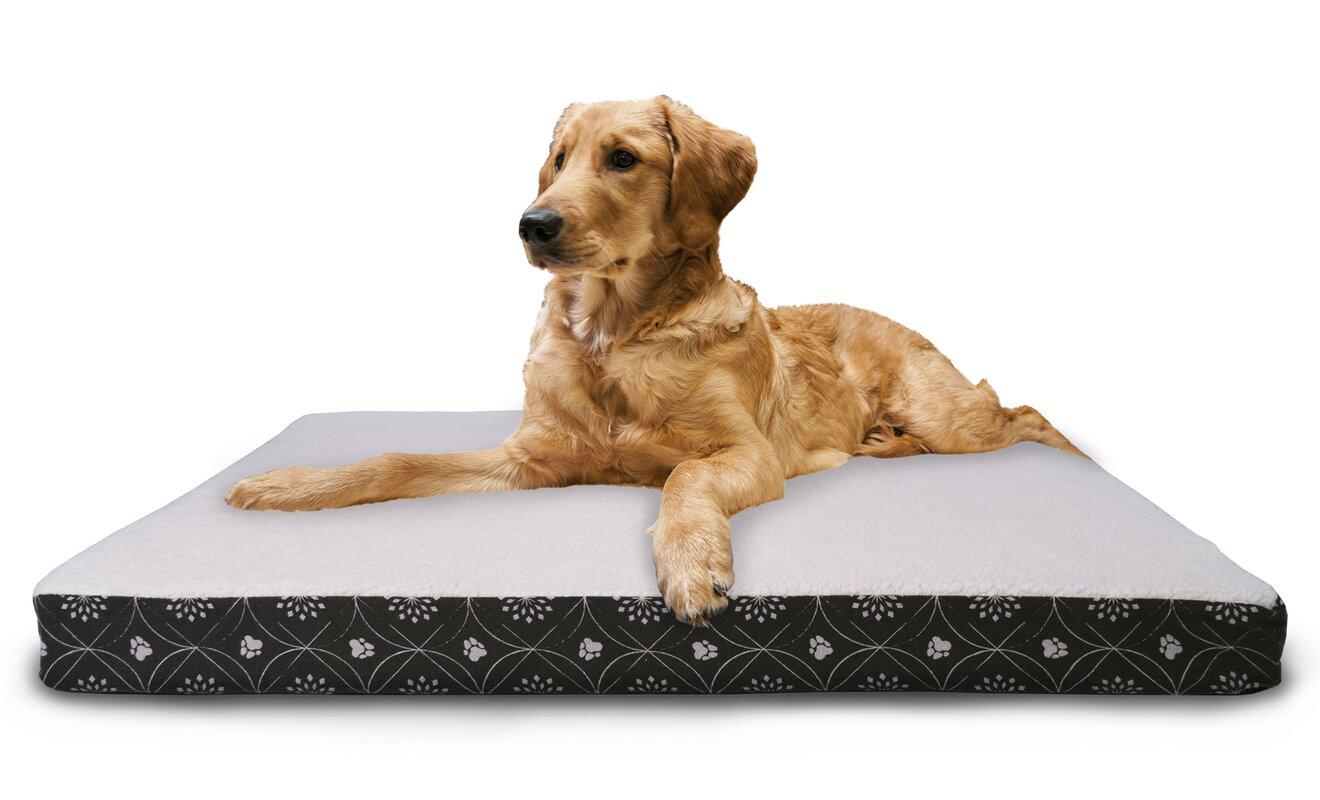 orthopedic infused layer memory gel headrest photo bed double big foam p dog