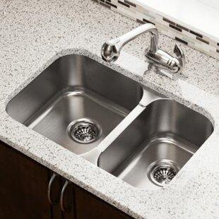 27 5 L X 18 W Double Bowl Undermount Kitchen Sink