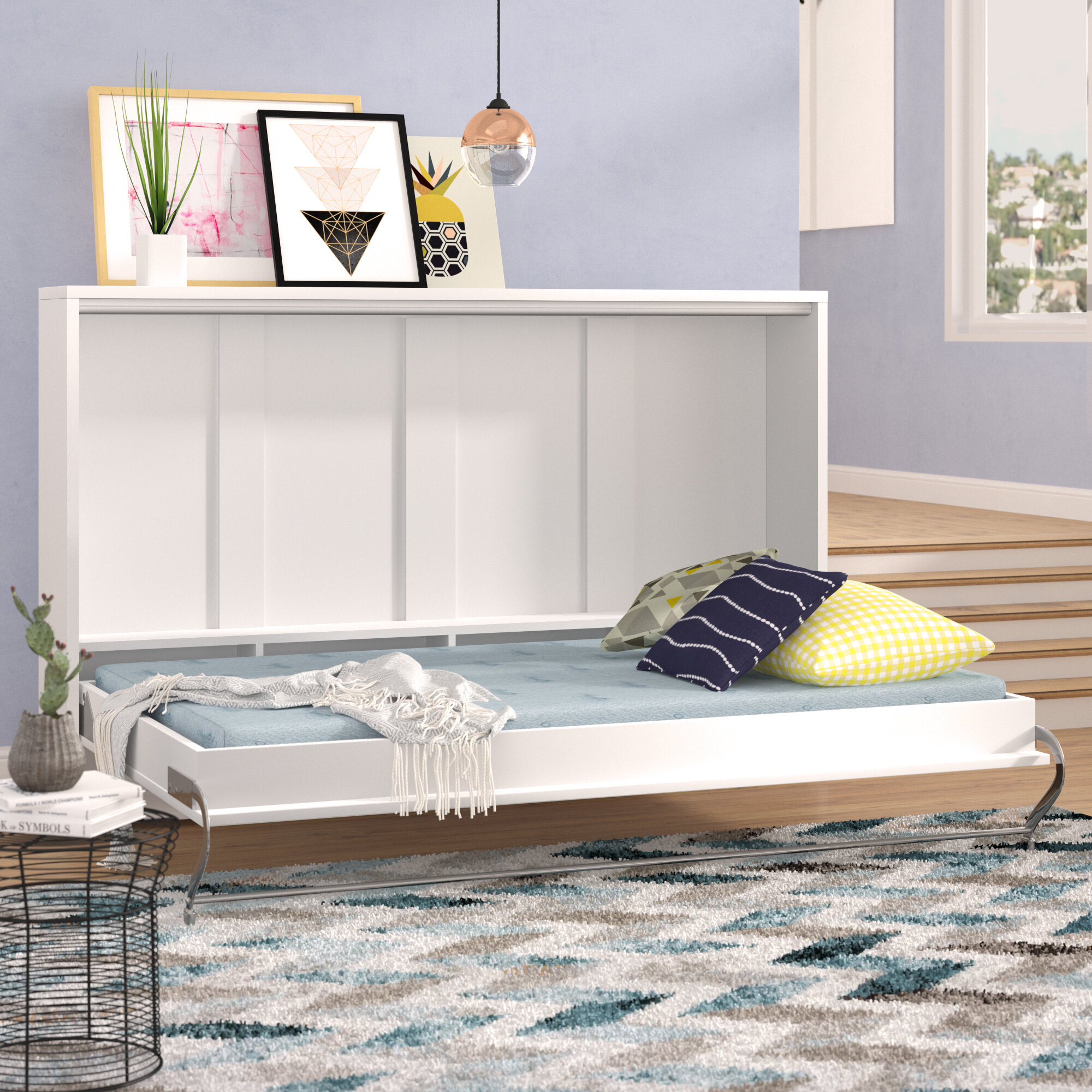 Brayden Studio Clearwater Twin Murphy Bed with Mattress | Wayfair