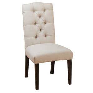 Tufted Linen Side Chairs (Set of 2) by Three Posts