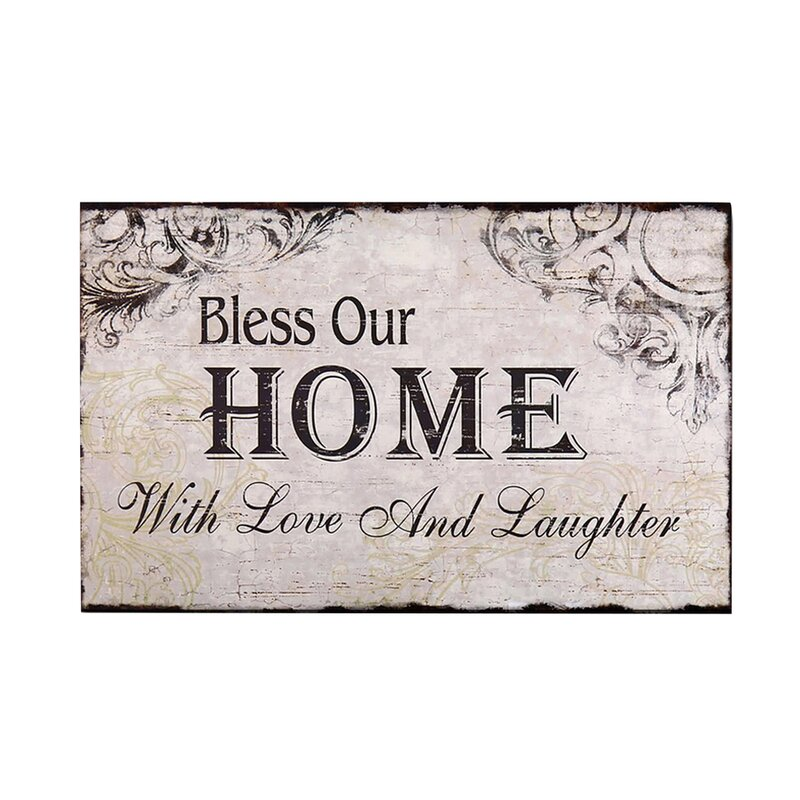 Bless Our Home With Love And Laughter Wood Wall Decor