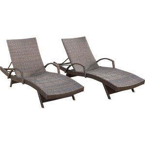 Peyton Adjustable Wicker Chaise Lounge (Set Of 2) Part 65