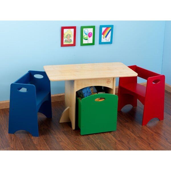 Kidkraft Kids 4 Piece Rectangular Table And Chair Set