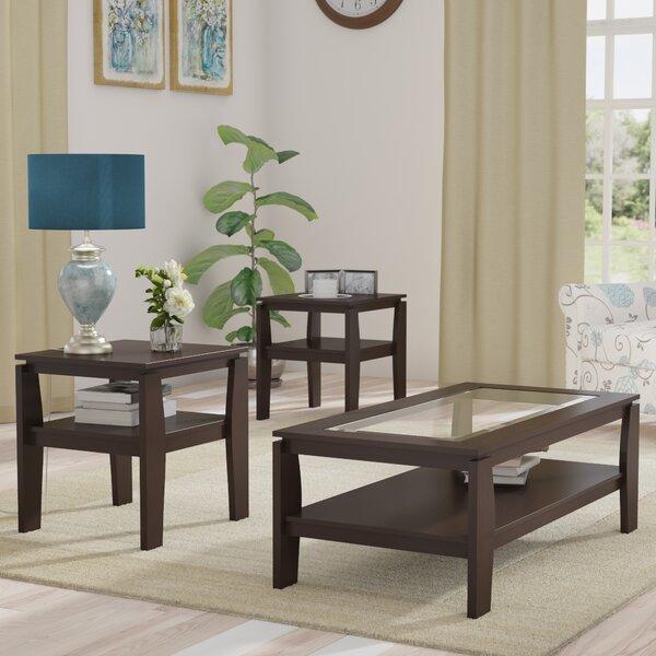 Wayfair All Modern: Red Barrel Studio Golder 3 Piece Coffee Table Set