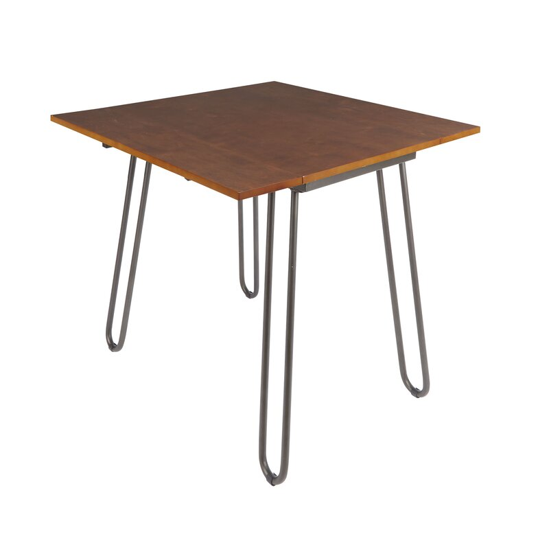 Amazing Parikh Drop Leaf Dining Table With Hairpin Legs