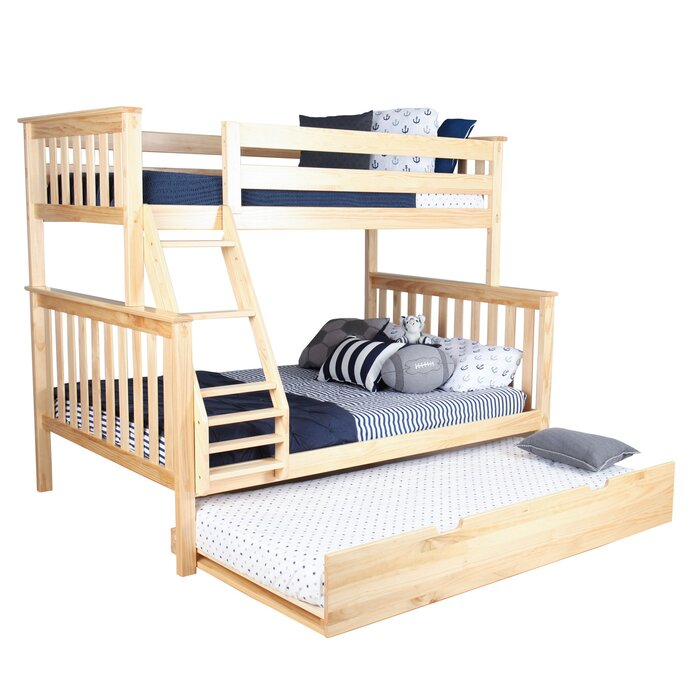Harriet Bee Juliann Solid Wood Bunk Bed With Trundle Bed Reviews