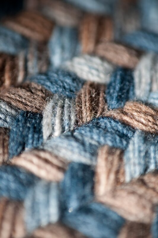 Colonial Mills Oak Harbour Laguna Braided Wool Blue Brown