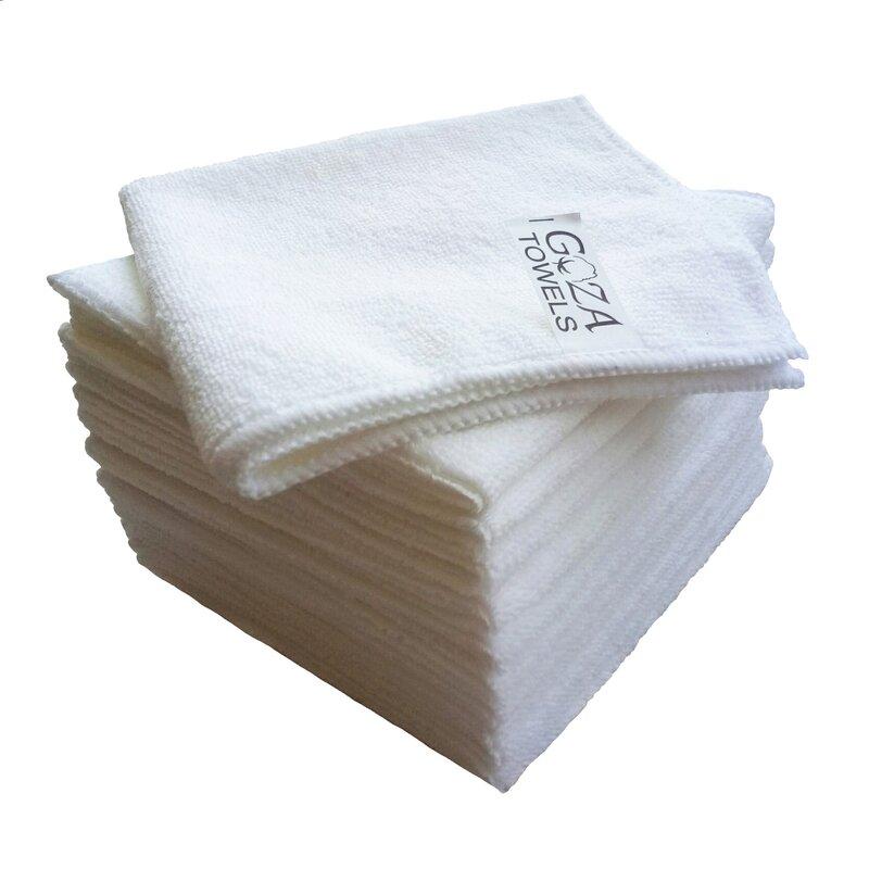 AG Gapital Goza 12 Pieces in Set Washcloth Towel Set  Finish: White
