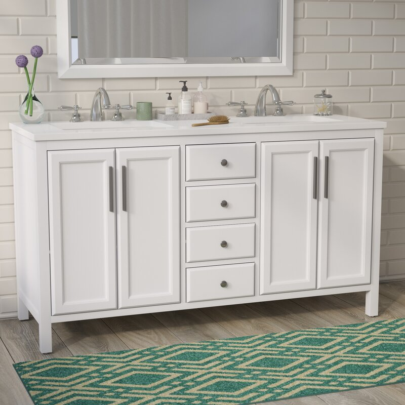 Brayden Studio Carpentier 48 Double Bathroom Vanity Set Reviews Inspiration Bathroom Vanity Double