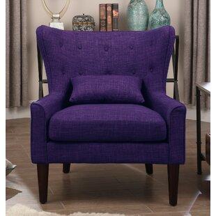 Purple Wingback Accent Chairs Youu0027ll Love | Wayfair