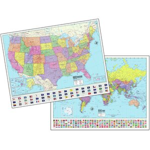 US Wall Maps Youll Love Wayfair - Classroom size map of us