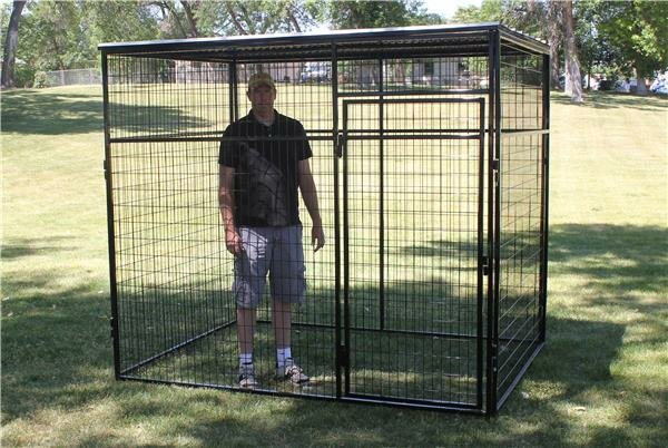 K9 Kennel Animal Enclosure With Metal Corrugated Roof
