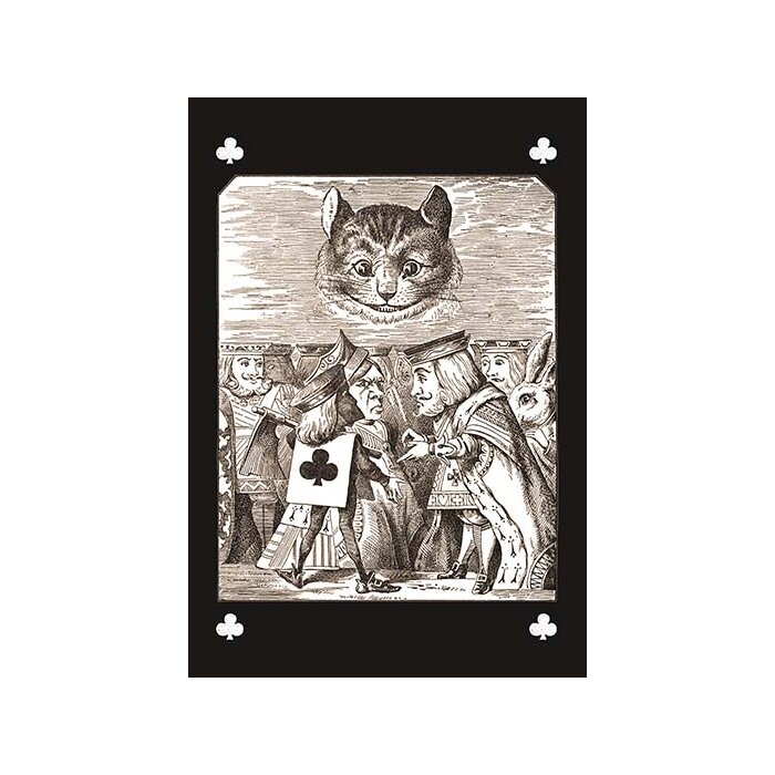 'Through the Looking Glass the Dispute' by John Tenniel Painting Print