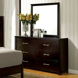 Kinzie 6 Drawer Double Dresser With Mirror