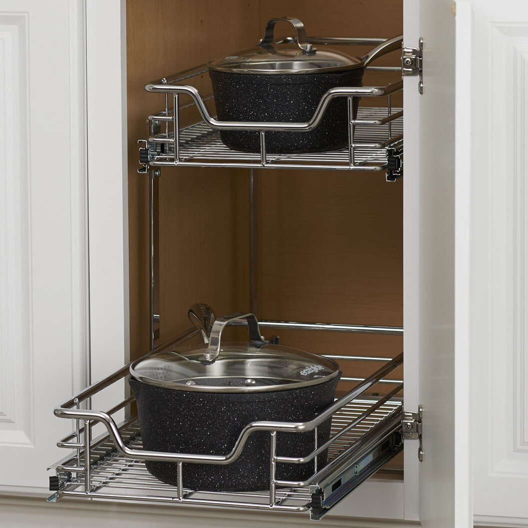 Dual Slide 2 Tier Under Sink Pull Out Drawer