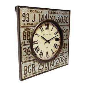 lic plates metal clock