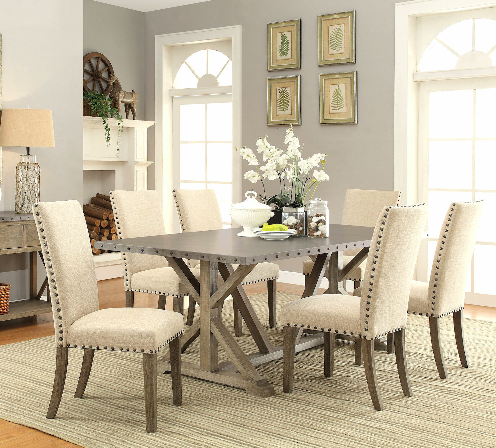 Infini Furnishings Athens Piece Dining Set Reviews Wayfair - Best place to buy dining room table