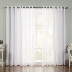 Mix and Match Voile Semi-Sheer Grommet Curtain Panels (Set of 2)