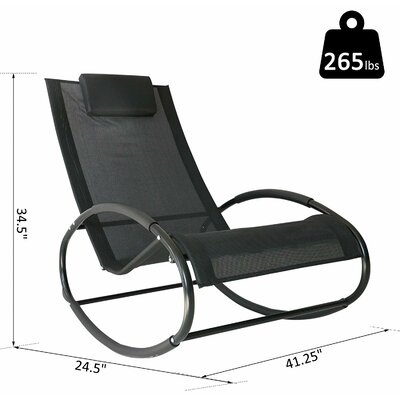 Surprising Ebern Designs Sundberg Outdoor Zero Gravity Rocking Chair Ocoug Best Dining Table And Chair Ideas Images Ocougorg