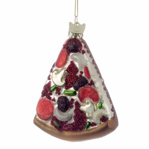 Noble Gems Glass Pizza Slice Ornament