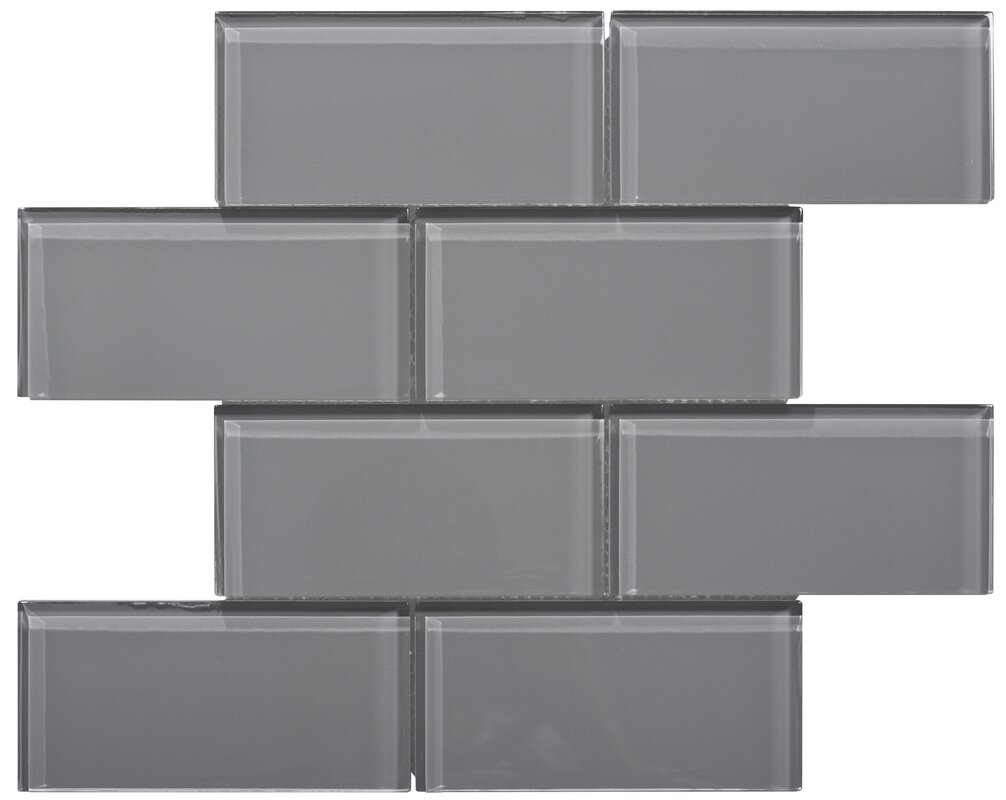 Ws tiles premium series 3 x 6 glass subway tile in dark gray premium series 3 x 6 glass subway tile in dark gray dailygadgetfo Image collections