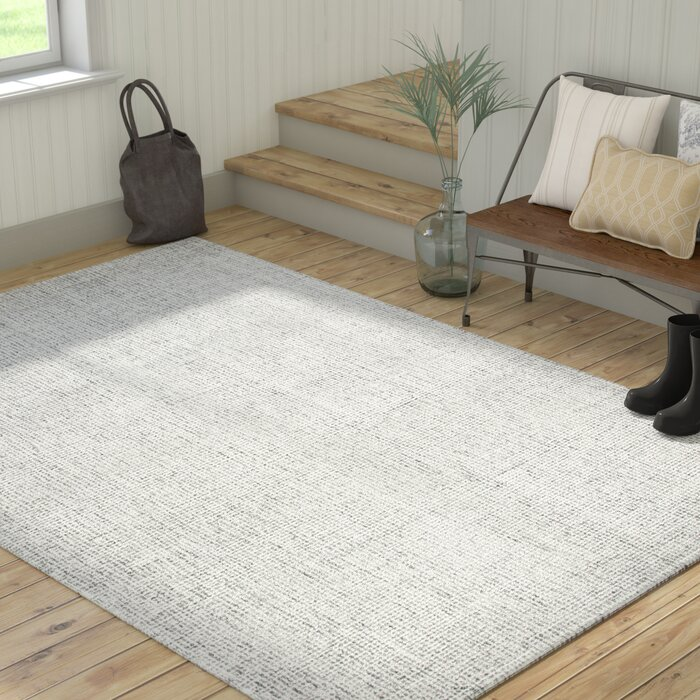Marsh Hand Tufted 100 Wool Grey Area Rug