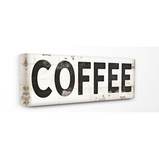 U0027Coffee Typography Vintage Signu0027 Wall Art
