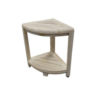 Oasis Coastal Vogue 2 Tier Teak Corner Shower Shaving Bench