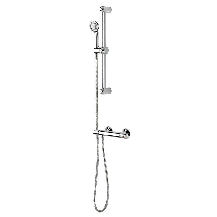 Essential Style Thermostatic Valve Slide Bar Complete Shower System