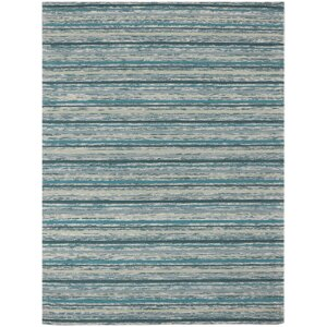 Brookes Hand-Tufted Teal Area Rug