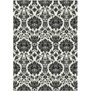Affordable Price Hadassah Manor Uptown Hand-Tufted Black/White Area Rug By House of Hampton