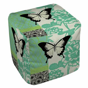 Butterfly Journey 1 Ottoman by Manual Woodworkers & Weavers