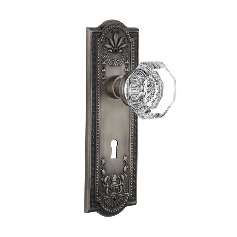 Waldorf Double Dummy Door Knob With Meadows Plate