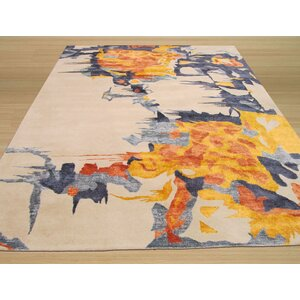 Columbia Hand Tufted Ivory Area Rug