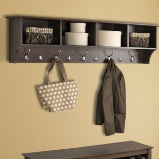 Ella 60 Hanging Entryway 9 Hook Storage Shelf